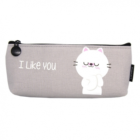 Buy Canvass Pencil Case w/ Acrylic Box I Like You online at Shopcentral Philippines.