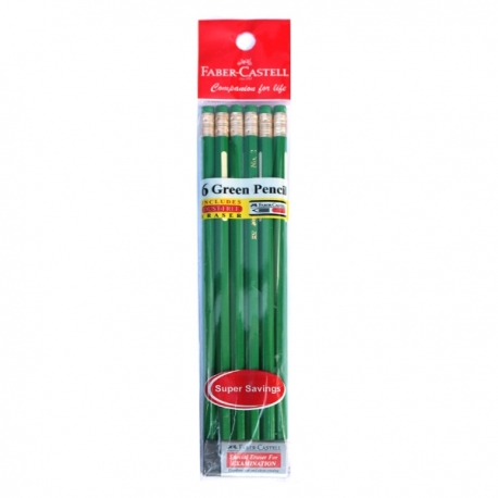 Buy Faber Castell Pencil 6's w/ Eraser online at Shopcentral Philippines.