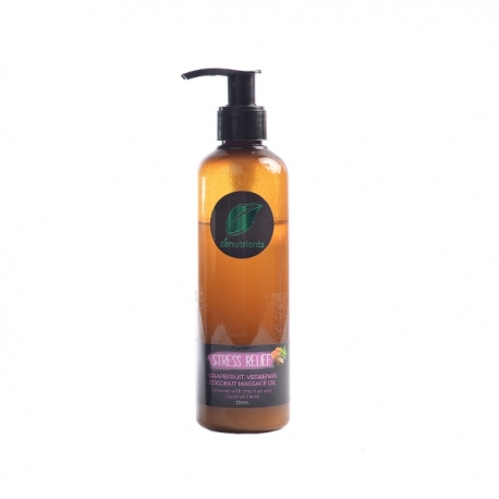 Buy Zenutrients Stress Relief Grapefruit, Verbenas, Coconut Massage Oil 250ml online at Shopcentral Philippines.