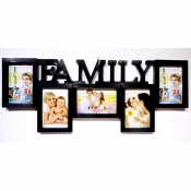 Buy Family 5 Photo Collage Frame Black online at Shopcentral Philippines.