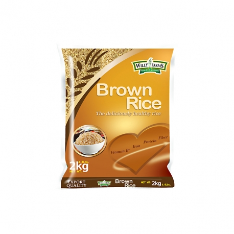 Buy Willy Farms Brown Rice 2kg online at Shopcentral Philippines.