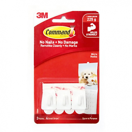 Buy 3M Command Micro Hooks 225g online at Shopcentral Philippines.
