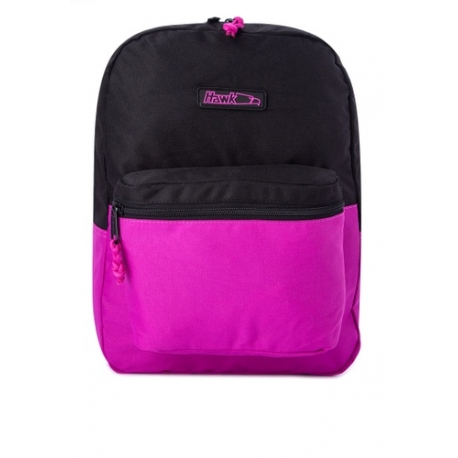Buy Hawk Everyday Backpack With Durashield Fabric  (Black/Magenta) online at Shopcentral Philippines.