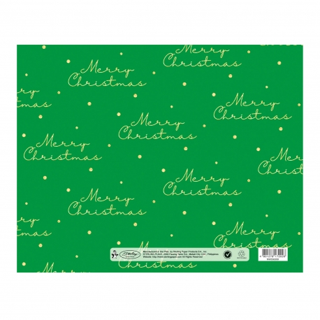 Buy Sterling Christmas Flat Wrappers Green Polka online at Shopcentral Philippines.