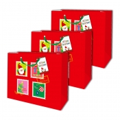 Buy Sterling Christmas Totebag w/ Gift Tag Red Square 3's online at Shopcentral Philippines.