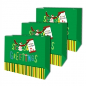Buy Sterling Christmas Totebag w/ Gift Tag Green Stripe 3's online at Shopcentral Philippines.