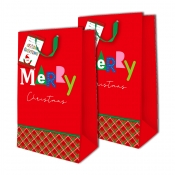 Buy Sterling Christmas Totebag w/ Gift Tag Red Checkered 2's online at Shopcentral Philippines.