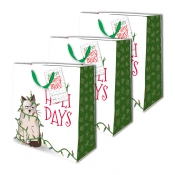 Buy Sterling Christmas Totebag w/ Gift Tag Cat Lights Medium 3's online at Shopcentral Philippines.