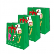 Buy Sterling Christmas Totebag w/ Gift Tag Green Colorful Medium 3's online at Shopcentral Philippines.