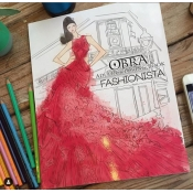 Buy OBRA Adult Coloring Book Fashionista  online at Shopcentral Philippines.