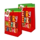Sterling Christmas Totebag w/ Gift Tag Red Merry Vertical 2's