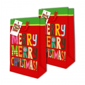 Buy Sterling Christmas Totebag w/ Gift Tag Red Merry Vertical 2's online at Shopcentral Philippines.