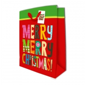 Buy Sterling Christmas Totebag w/ Gift Tag Red Merry X Large online at Shopcentral Philippines.