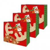 Buy Sterling Christmas Totebag w/ Gift Tag Red Deer L Horizontal 3's online at Shopcentral Philippines.