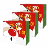 Buy Sterling Christmas Totebag w/ Gift Tag Red Hohoho L Horizontal 3's online at Shopcentral Philippines.
