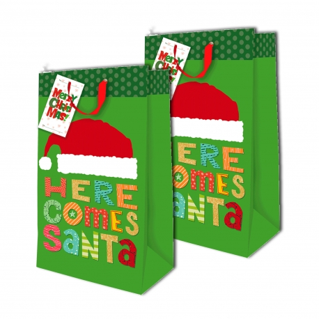Buy Sterling Christmas Totebag w/ Gift Tag Green Dots L Vertical 2's online at Shopcentral Philippines.