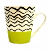 Buy Home Gallery New Bone Mug 12oz Black Stripes online at Shopcentral Philippines.