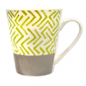Buy Home Gallery New Bone Mug 12oz Green Stripes online at Shopcentral Philippines.