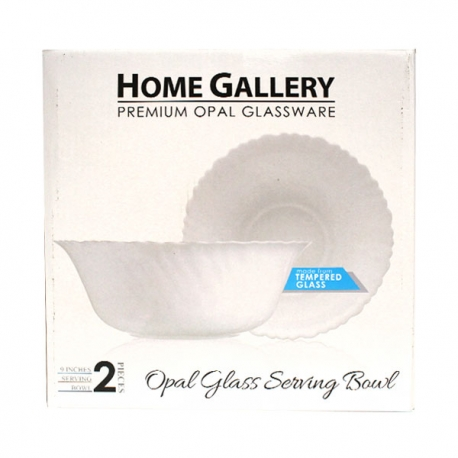 Buy Home Gallery 2Pcs Opal Glass Serving Bowl online at Shopcentral Philippines.
