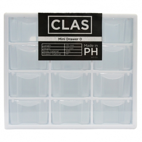 Buy CLAS 12 Drawers Lifestyle Organizer online at Shopcentral Philippines.