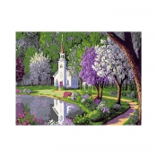 "Buy Paint by Number Kit 16""x 20"" Quiet Church online at Shopcentral Philippines."