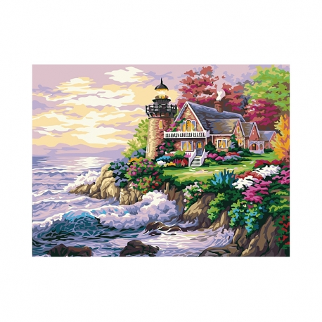 """Buy Paint by Number Kit 16""""x 20"""" Beach House online at Shopcentral Philippines."""