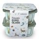 Lock&Lock Square Euro Glass 2pc 750ml