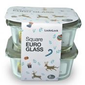 Buy Lock&Lock Square Euro Glass 2pc 750ml  online at Shopcentral Philippines.