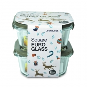 Buy Lock&Lock Square Euro Glass 2pc 500ml  online at Shopcentral Philippines.