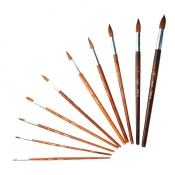 Buy 12 Pcs/Box Pentel Arts Water Color Brushes Round ZBS5 online at Shopcentral Philippines.
