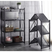 Buy Foldable Carbon Steel Multi Purpose Organizer  with Wheels 4 Layers online at Shopcentral Philippines.