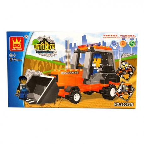 Buy Wange Bricks Construction Series - Bulldozer online at Shopcentral Philippines.