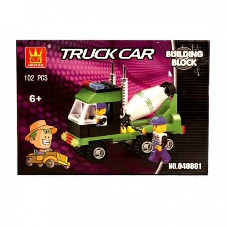 Buy  Wange Building Block Truck Car - Concrete Mixer online at Shopcentral Philippines.